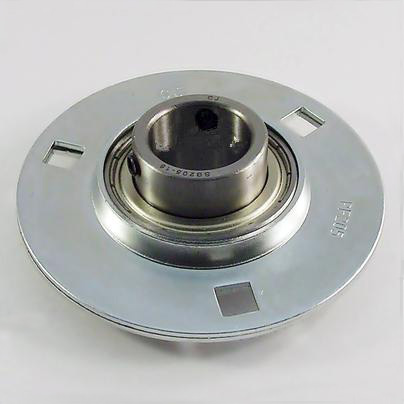 SBPF201-08 1/2 Pressed Steel Round 3-Bolt Flange Bearing